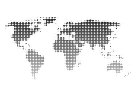 importation: World map of dot pattern