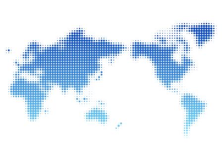 World map of dot pattern