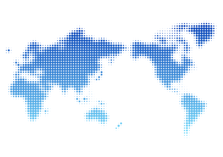 World map of dot pattern