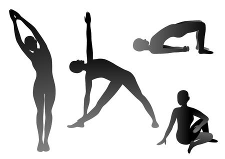 perspiration: Illustration of the yoga Illustration