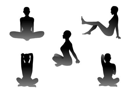 Illustration of the yoga Vektorové ilustrace
