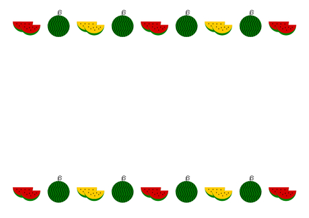 simple cross section: Frame of watermelon
