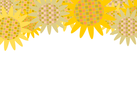 sunflower field: Illustration of sunflower Illustration
