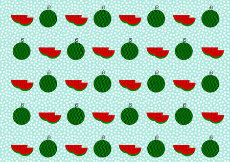 simple cross section: Illustration of watermelon
