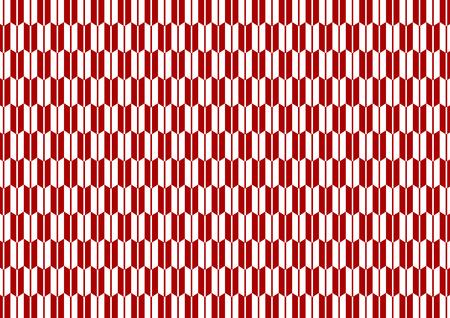 Yagasuri pattern red
