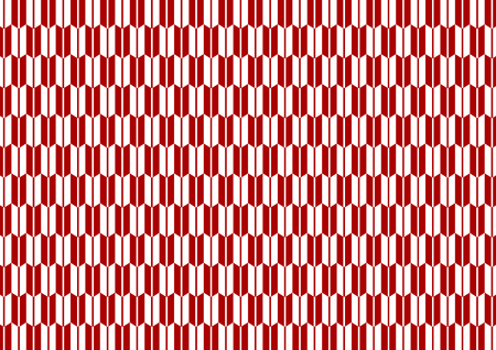Yagasuri pattern red