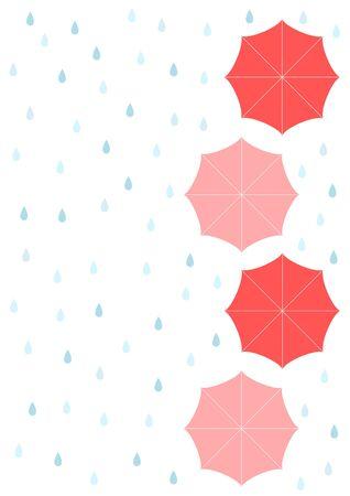 fodder: Rain and umbrella Background illustration
