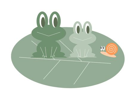 cochlea: Frog and snail Stock Photo