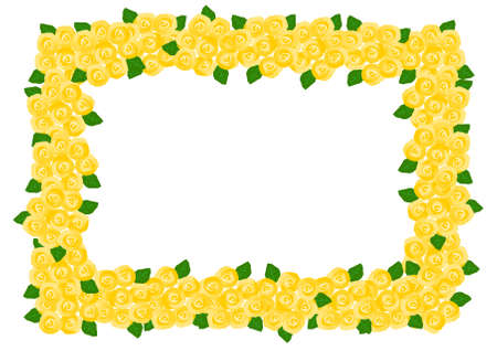 yellow rose: Frame of the yellow rose