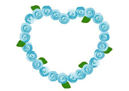 blue rose: Frame of the blue rose
