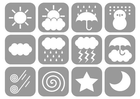 winds: Weather icons Stock Photo