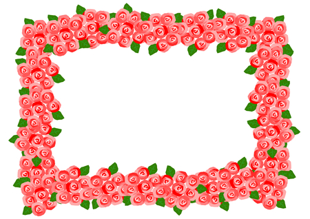 red rose: Frame of the red rose