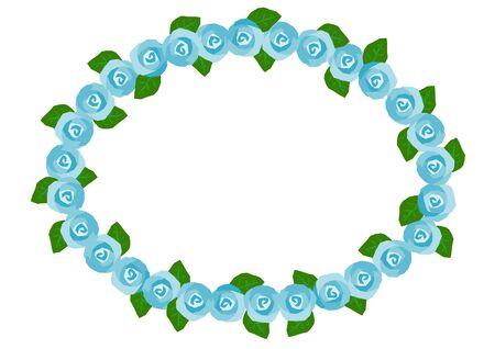 quantity: Frame of the blue rose