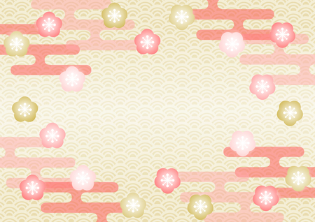 Japanese plum and japanese pattern