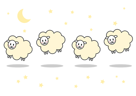 illustrate i: Sheep and night Illustration