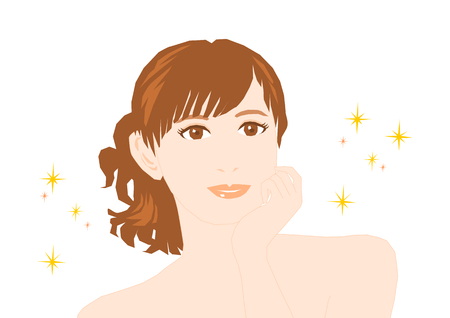 autocuidado: Beauty image of the woman Vectores