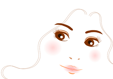 clippings: Beauty image of the woman Illustration