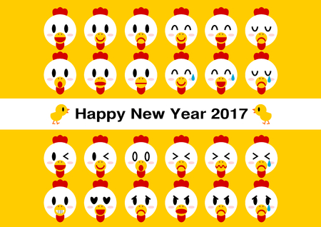 fondness: 2017 New Years card (face of the chicken)