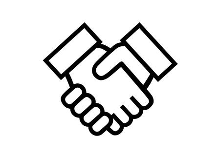 orphaned: Illustration of shake hands Illustration
