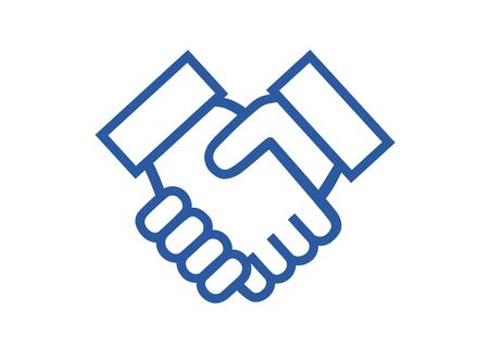 Illustration of shake hands Vettoriali