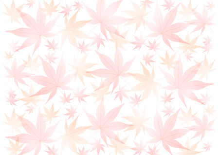 Background of japanese maple illustration