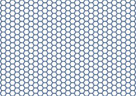 wu: Kikko Traditional pattern of Japan (Hexagonal pattern) Illustration