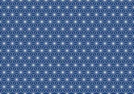goodluck: Geometric hemp-leaf pattern blue