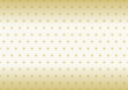 Geometric hemp-leaf pattern gold