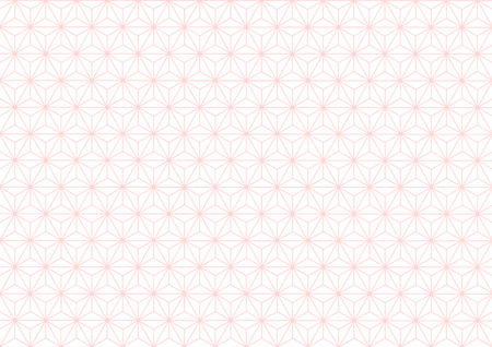 Geometric hemp-leaf pattern pink