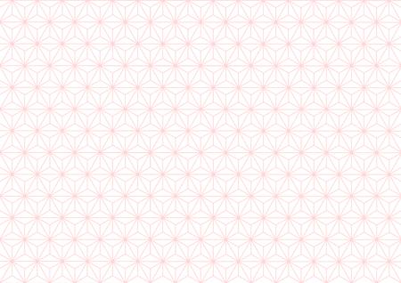 Geométrica De Cáñamo-patrón De La Hoja De Color Rosa Ilustraciones ...