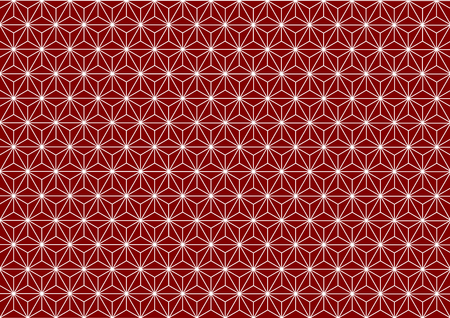 goodluck: Geometric hemp-leaf pattern red