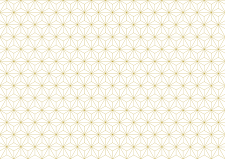 goodluck: Geometric hemp-leaf pattern gold