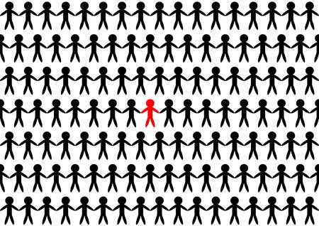 relaciones humanas: Diseño ilustración marca de las personas Vectores