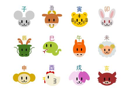 Icon of Chinese zodiac Ilustrace