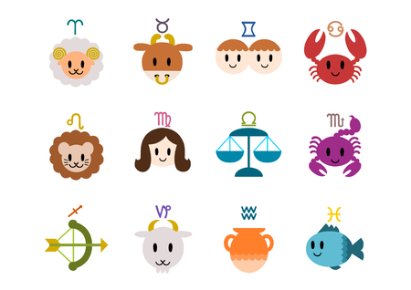 Icon of zodiac signs