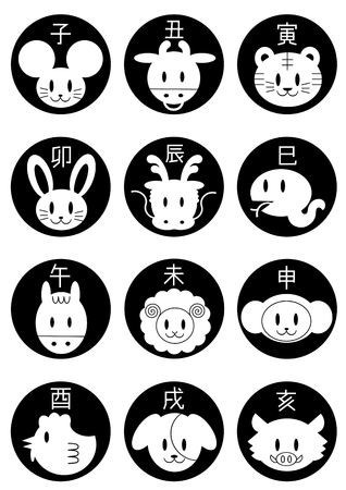 unread: Icon of Chinese zodiac Illustration
