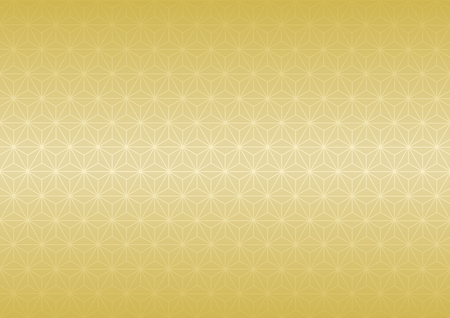 goodluck: Geometric hemp-leaf pattern (Gold) Illustration