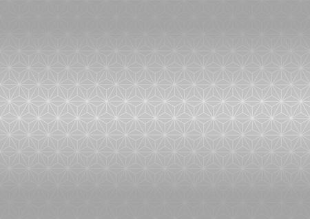 goodluck: Geometric hemp-leaf pattern (Silver) Illustration