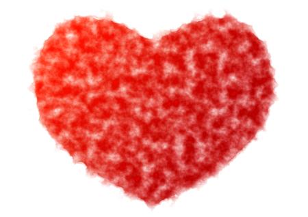 romantics: Heart-shaped watercolor Stock Photo