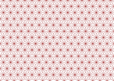 goodluck: Hemp-leaf geometric pattern (Red)