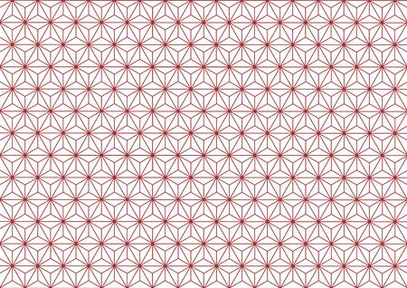 dyeing: Hemp-leaf geometric pattern (Red)