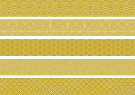 transom: Tradition design of Japan (gold)
