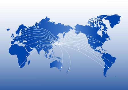 World map of global image