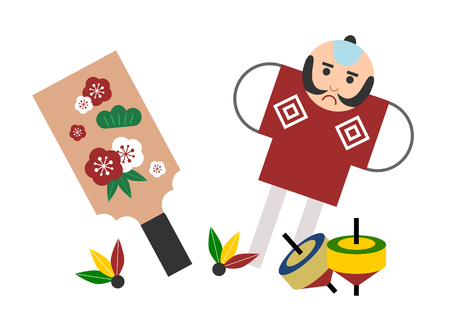 Traditional New Year's games of Japan  イラスト・ベクター素材