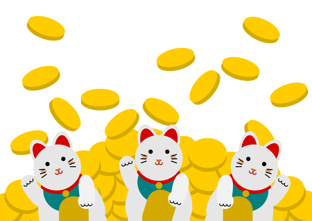 Maneki-Neko welcome cat (beckoning cat, lucky cat)
