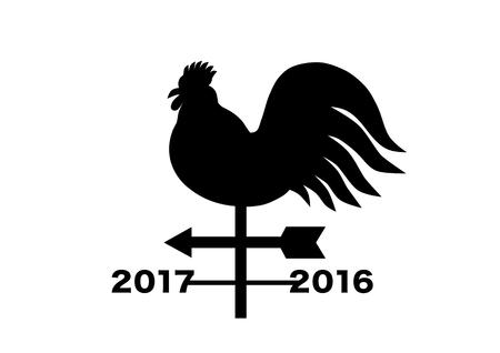 weathercock: 2017 New Years card (Weathercock)