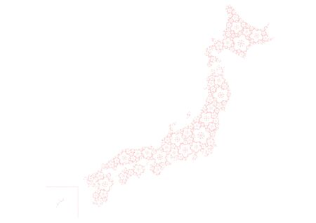 islet: japanese map of floral design Illustration