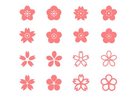 Symbol der Kirschblüte Standard-Bild - 68590333