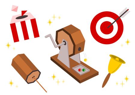 宝くじのイラスト  イラスト・ベクター素材
