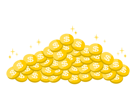 Illustration of coins (Dollar) 免版税图像 - 71758298